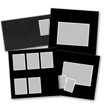 Basic Black Predesigned Pages 12x12