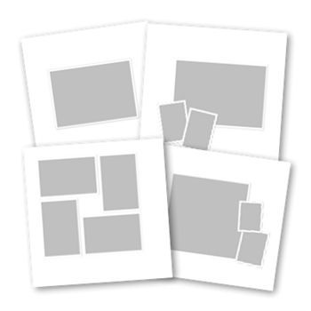 Basic White 12x12 Digital Art - Digital Scrapbooking Kits