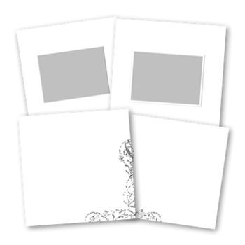 Basic White 8x8 Digital Art - Digital Scrapbooking Kits