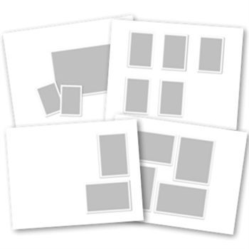 Basic White Predesigned Pages 11x8.5