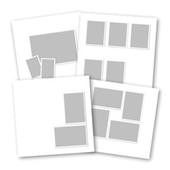 Basic White Predesigned Pages 12x12