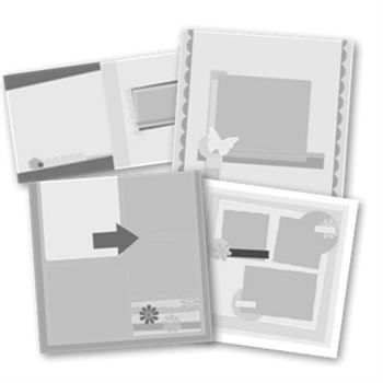 Click And Fill Rustic Simplicity 12x12 Digital Pages