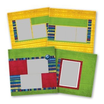Elementary School 12x12 Predesigned Pages Digital Art - Digital Scrapbooking Kits