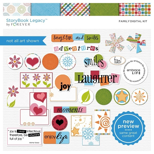 Family Digital Kit Digital Art - Digital Scrapbooking Kits