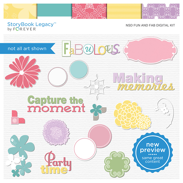 NSD Fun And Fab Digital Kit Digital Art - Digital Scrapbooking Kits