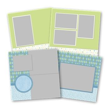Soft Baby Boy Predesigned Pages 12x12