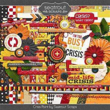 Crisis Point Digital Art - Digital Scrapbooking Kits
