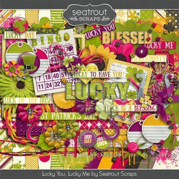 Lucky You, Lucky Me Digital Art - Digital Scrapbooking Kits