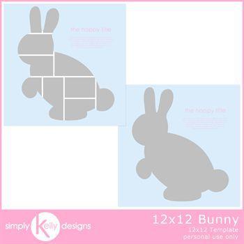 12x12 Bunny Template