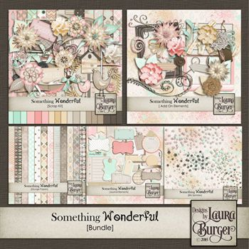 Something Wonderful Bundle Digital Art - Digital Scrapbooking Kits