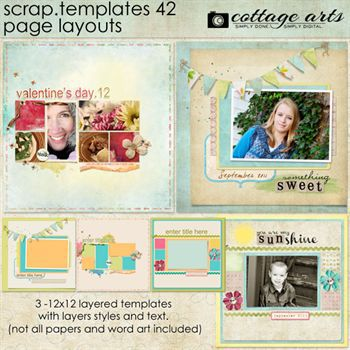12 X 12 Scrap Templates 42 - Page Layouts
