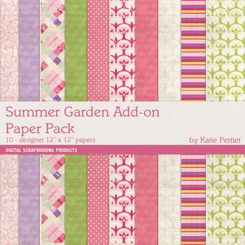 Summer Gardens Add-on Paper Pack