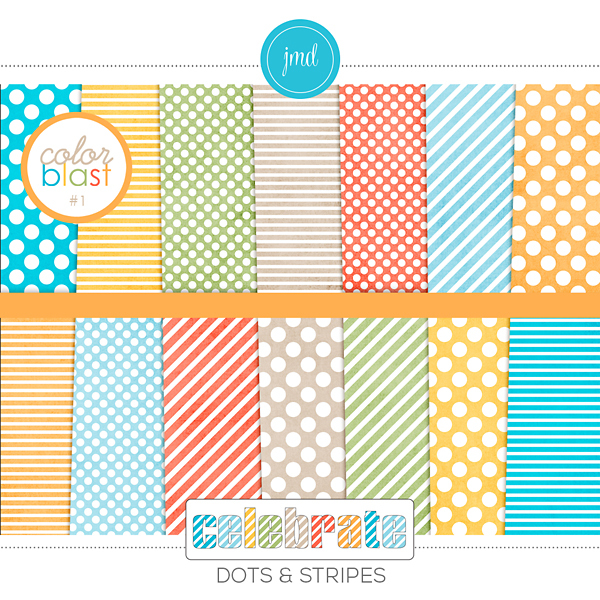 Color Blast 1 - Celebrate Dots And Stripes