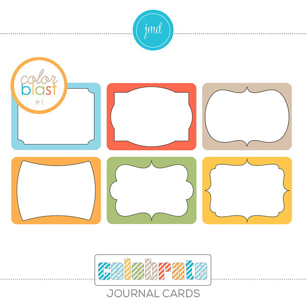 Color Blast 1 - Celebrate Journal Cards