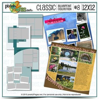 12x12 Classic Blueprint Collection #8