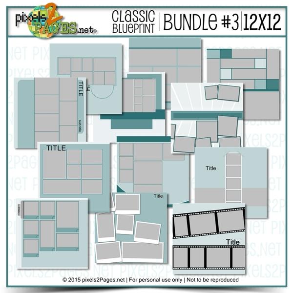 12x12 Classic Blueprint Collection Bundle #3