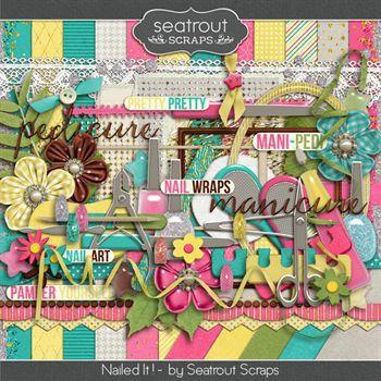 Nailed It ! Digital Art - Digital Scrapbooking Kits