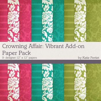 Crowning Affair Vibrant Add-on Paper Pack