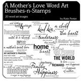 Mothers Love Word Art Megapak Brushes