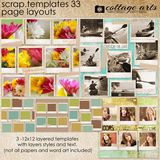 12 X 12 Scrap Templates - Page Layouts 33