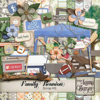 Family Union Scrap Kit Digital Art - Digital Scrapbooking Kits