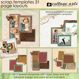 12 X 12 Scrap Templates 31 - Page Layouts