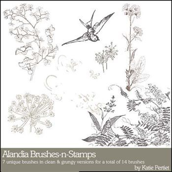 Alandia Brushes And Stamps