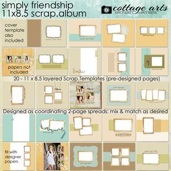 11 X 8.5 Simply Friendship Album Pak