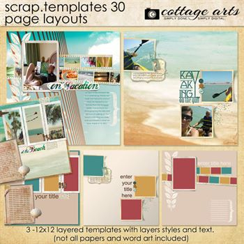 12 X 12 Scrap Templates 30 - Page Layouts