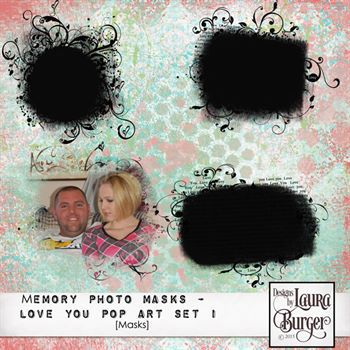 Memory Photo Masks-i Love You Pop Art 1