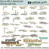 Beautiful Dreamer Scrap.words