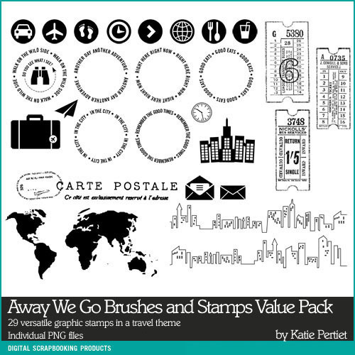 Away We Go Stamps Value Pack