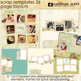12 X 12 Scrap Templates 26 - Page Layouts