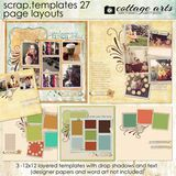 12 X 12 Scrap Templates 27 - Page Layouts