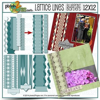12x12 Blueprint Borders Lattice Lines