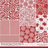 Redwork Add-on Paper Pack