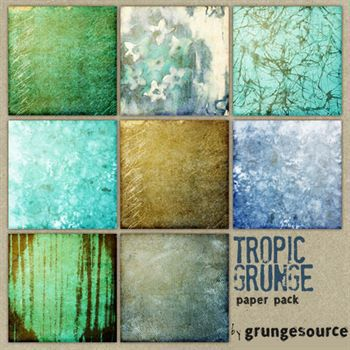 Tropic Grunge Paper Pack