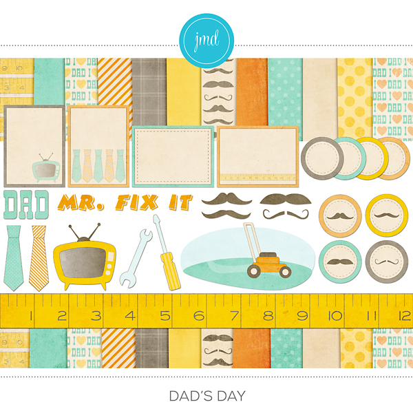 Dad's Day Digital Art - Digital Scrapbooking Kits