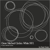Clean Stitched Circles White No. 01
