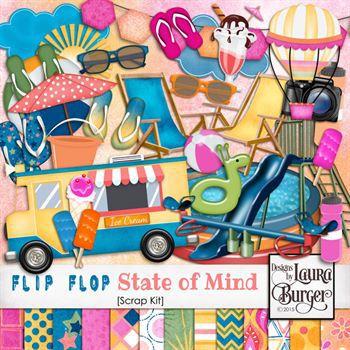 Flip Flop State Of Mind Scrap Kit