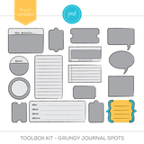 Toolbox Kit - Grungy Journal Spots