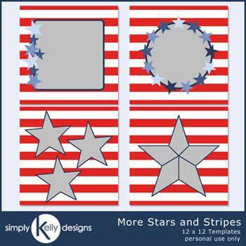 12 X 12 More Stars And Stripes Templates