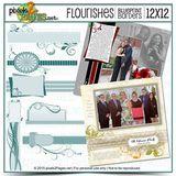 12x12 Blueprint Borders: Flourishes