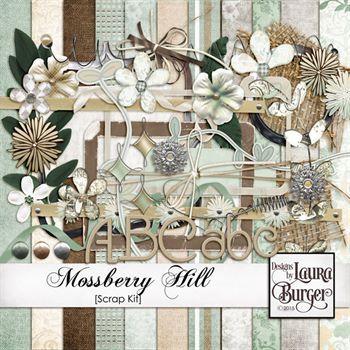 Mossberry Hill Scrap Kit Digital Art - Digital Scrapbooking Kits