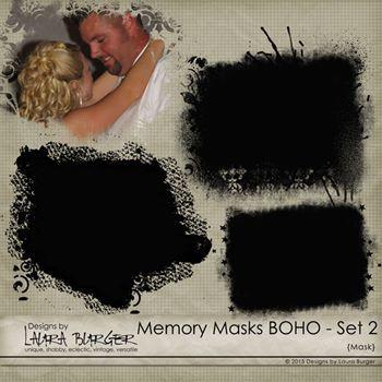 Memory Masks Boho - Set 2 Digital Art - Digital Scrapbooking Kits