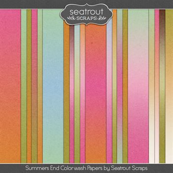 Summer's End Colorwash Papers Digital Art - Digital Scrapbooking Kits