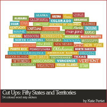 Cut Ups Fifty States And Territories