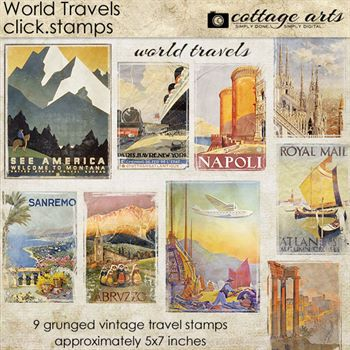 World Travels Click.stamps