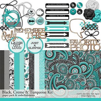 Black, White And Turquoise Kit