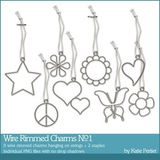 Wire Rimmed Charms No. 01